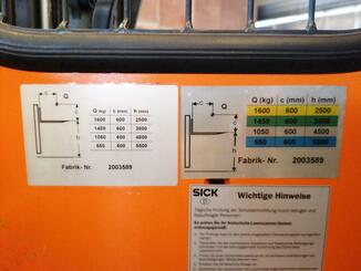 Chariot élévateur latéral multidirectionnel Hubtex MS16/55
